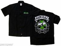 OVERKILL cd lgo MALTESE CROSS Batwing Skull Official WORK SHIRT SMALL dickies