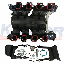 Intake Manifold Upper Engine with Thermostat & Gaskets Kit For Ford E-250 E-150