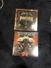 2 x Metal LP Vinyl Pantera Live Testament ( Metallica Anthrax Slayer Megadeth )