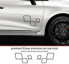 Renault Sport Door Performance Decal Premium 10 Year Vinyl Decal Stickers kit