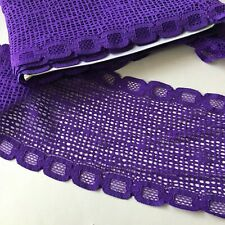 "Bra Knicker Lingerie Making Purple Galloon Spot Hole Picot Lace Stretch 5"" Wide"