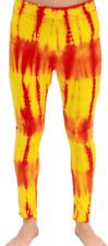 Adult Pro Wrestling Red Yellow Tie-Dye Wrestler Costume Leggings Pants