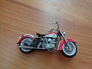 1/24 FRANKLIN MINT CLASSIC 1958 DUO GLIDE HARLEY DAVIDSON MOTORCYCLE BIKE