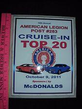 Antique Car Show Ohio Cruise in McDonalds American Legion 2011 classic vintage