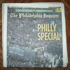 Historical Win Philadelphia Eagles Super Bowl Parade newspaper 2/9/18 Inquirer