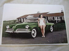 1953 STUDEBAKER WITH MODEL  IN COLOR     11 X 17  PHOTO  PICTURE