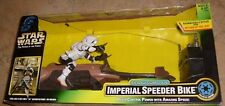Star Wars The Power ofthe Force RC REMOTE Imperial Speeder Bike Figure ~ NEW MIB