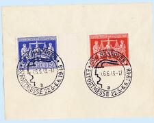 Germany 1948 Souvenir Card Hanover Fair 584-85 Special Postmark Cover