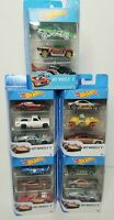 Hot Wheels 3 Car Assorted Pack Die Cast Metal Cars NEW ( Lot of 5)