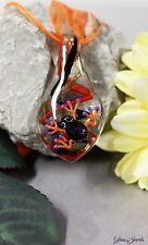 Glass Jewels Schöne Halskette Collier Anhänger Frosch Glimmer Aventurin  #M012
