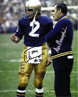 ARA PARSEGHIAN TOM CLEMENTS NOTRE DAME Signed 8x10 Autographed Photo Reprint