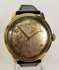 Rare and Original Vintage Zenith Bumper Automatic Watch - Signed 18k Gold