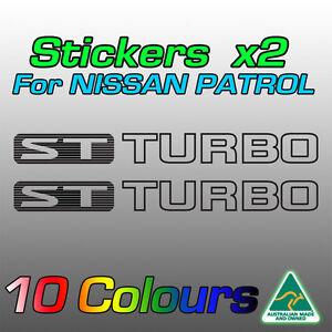 Nissan Patrol ST TURBO stickers decals for GU model   **Premium quality**