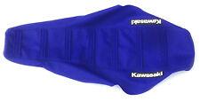 """New Blue Ribbed """"Kawasaki"""" Seat cover KX125 2003-06"""