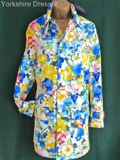 New RALPH LAUREN £475 Floral Cotton Shower Trench Coat Jacket Mac -8 10 12 Small