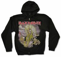 Adult Iron Maiden Killers Black Zip Hoodie Sweatshirt New Official Adult