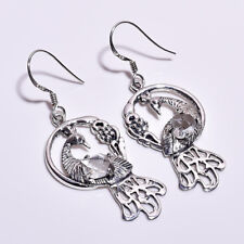 925 Sterling Silver Earrings, Natural Raw Herkimer Diamond Women Jewelry RSE1122