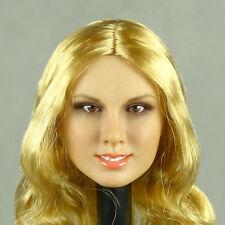 1/6 Phicen, Hot Stuff, Kumik, Flirty Girl - Female Long Blonde Hair Head Sculpt