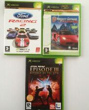 Lot  3 XBOX Games~Star Wars Episode 3~Ford Racing 2~Project Gotham Racing 2