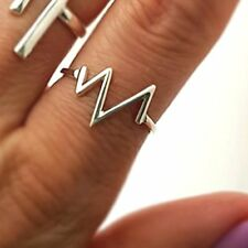 EKG Ring - Sterling Silver Heartbeat Ring - Heart Beat Pulse Ring - Doctor Gift