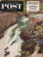 1952 Saturday Evening Post May 17-Art Linkletter;Malenkov;North Carolina Hunters