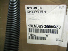 "3/4"" HIGH TEMP Nylon split convoluted WIRE LOOM - 600ft"