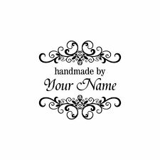 PERSONALIZED  CUSTOM MADE PERSONALIZED RUBBER STAMPS UNMOUNTED H40 CRAFTS