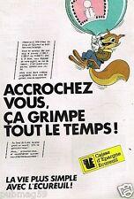 Publicité advertising 1985 Banque Caisse d'Epargne Ecureuil