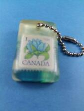 CANADA POST 1 CENT POSTAGE STAMP KEY RING KEYCHAIN FOB SOUVENIR COLLECTOR