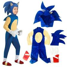 Halloween Hedgehog Sonic Costume Kids Boys Cosplay Party Jumpsuit Fancy Dress AU