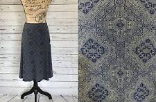 Lularoe Azure Skirt XS X-Small Navy Blue Cream Geometric Dots Circles Squares