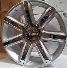 "24"" Rims & Tires Platinum Style Silver Chrome Wheels Escalade EXT Yukon Denali"