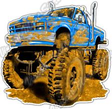 "Monster Big Tire Truck Off-Road SUV Mud Car Bumper Vinyl Sticker Decal 4.6"""