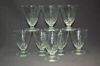 Vintage Textured Clear Glass 8PC Parfait Sherbet Cups