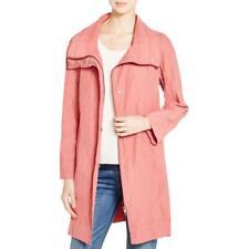 Eileen Fisher 5979 Womens Pink Metallic Stand Collar Coat Jacket M BHFO