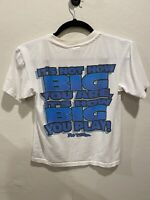 Vintage No Fear Made in USA White TShirt Spell Out Big Logo Men's Size Medium