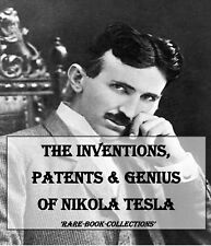 NIKOLA TESLA VINTAGE BOOKS COLLECTION DVD - SCIENCE HISTORY GENIUS PATENTS COIL