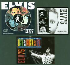 Liberia 2010 - Elvis Presley - 75. Geburtstag - 5720-29 - komplett 3 Kleinbogen