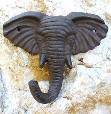 Vestuario gancho de muro hierro fundido toalla hierro elefante cabeza África decorativas