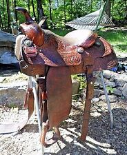 "Vintage RS Ryon 1977 TROPHY Roper Western Roping Saddle 15"" VGC"
