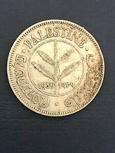 Palestine 50 Mils, 1939, British Mandate, silver coin 0.72
