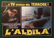 FOTOBUSTA  L'ALDILA' THE BEYOND LUCIO FULCI KELLER 1° EDIZIONE ITALIANA HORROR