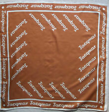 Vintage WOMENS Scarf JACQMAR of LONDON 1970s Retro TAN