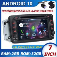 "7"" Autoradio For Mercedes Benz C/CLK/G Classe W203 W209 Viano Android 10 GPS DAB"