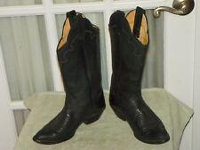 Panhandle Slim Women's Black Leather Cowboy Western Boots size 5 B