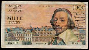 France 1000 francs Richelieu 1-7- 54