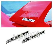 3D Emblem Badge Sticker Badge Decal Aluminum Honda Civic ACURA Mugen Emblem X2