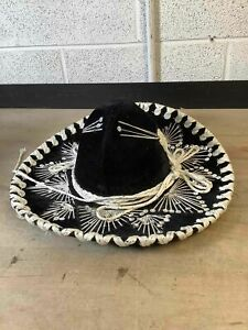 "Men's Pigalle Black/White Sombrero Sz. 7""/7X"