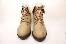 Arizona Daisy Womens Lace-Up Boots Taupe Size 7.5M