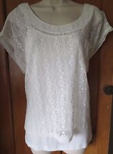 ALICE BARNABE BY ENJOY TOP & VEST SIZE 18 44 OFF WHITE IMPORTED BY SAVITRI PARIS